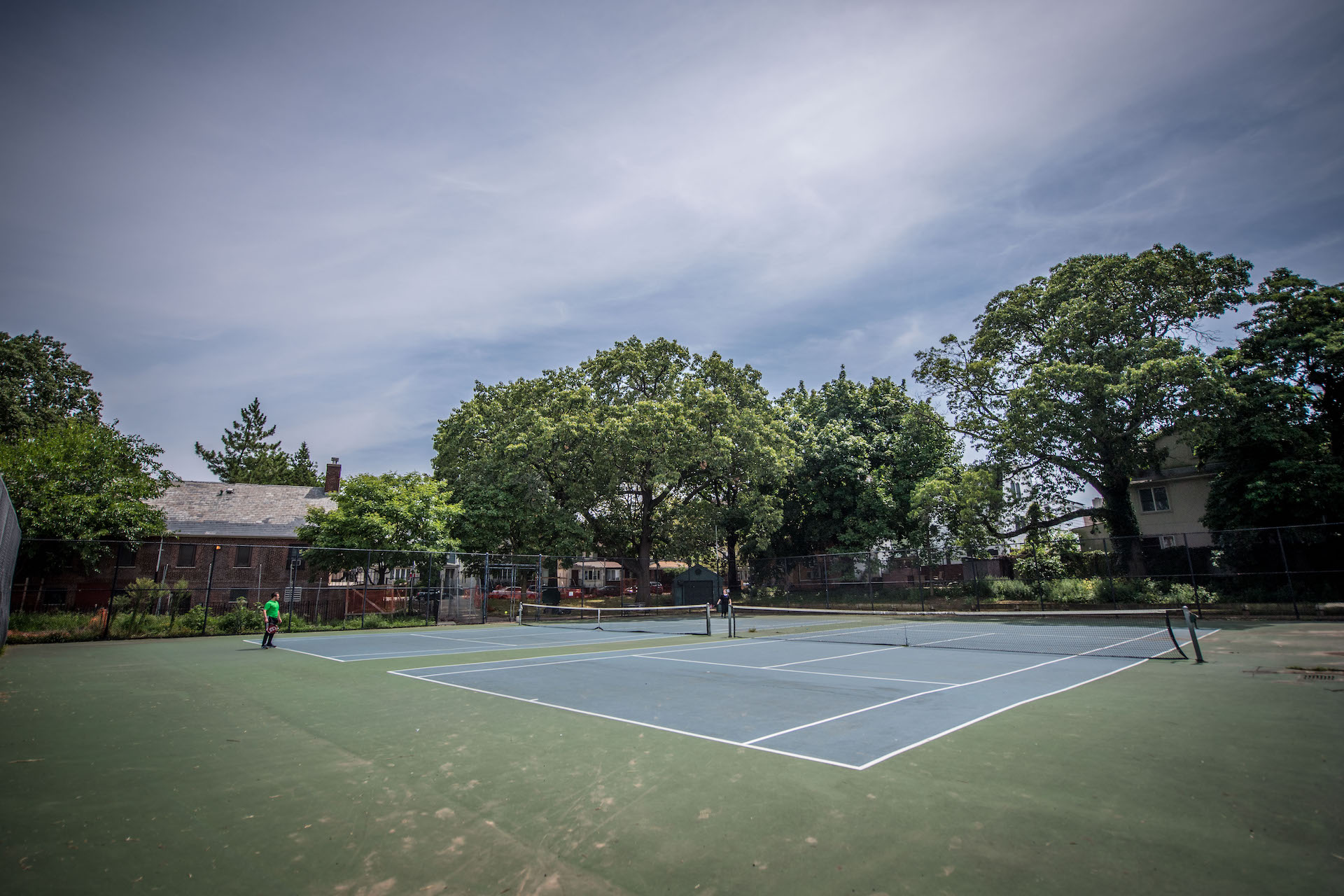 Two tennis players at The Vitagraph in Brooklyn face off in competition