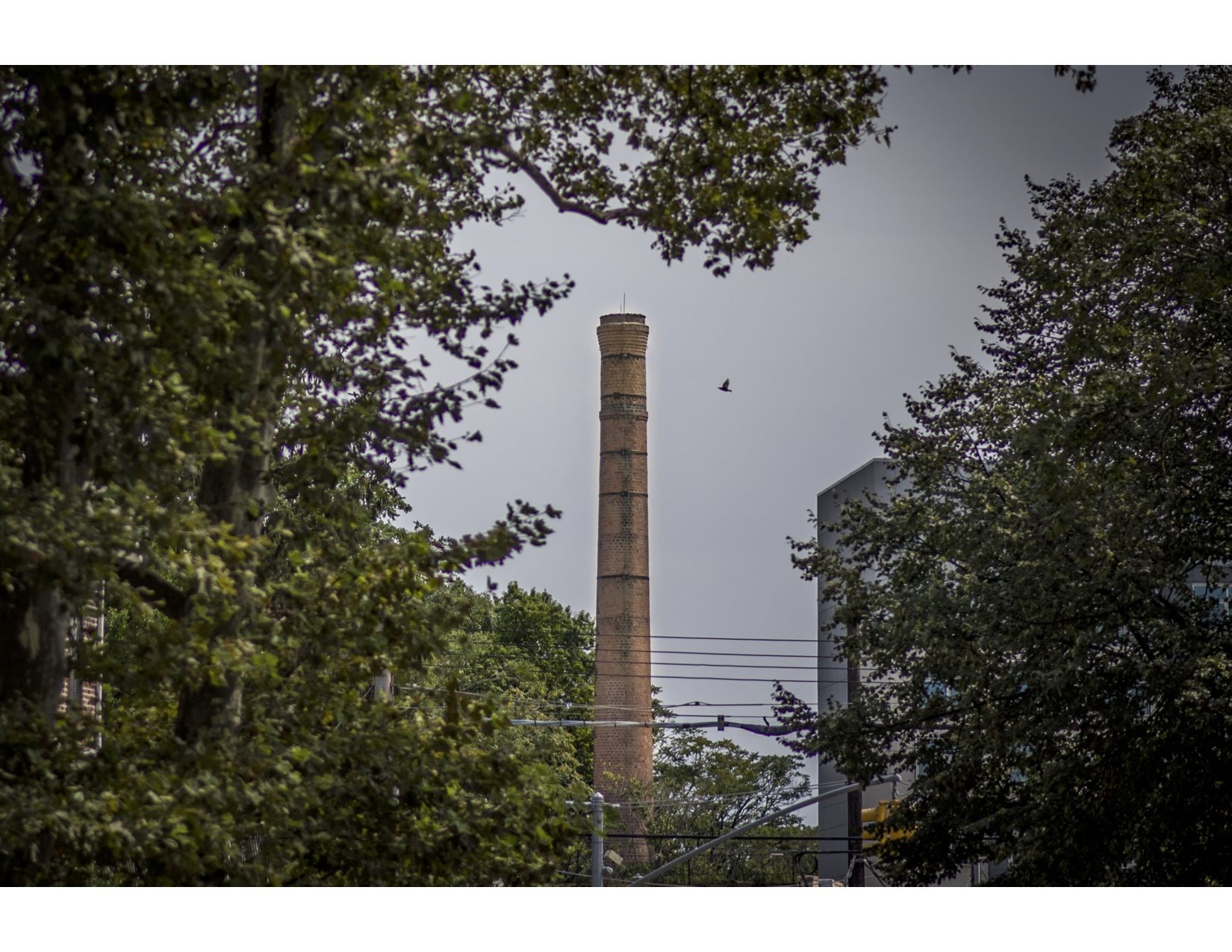 A towering smoke stack at The Vitagraph in New York