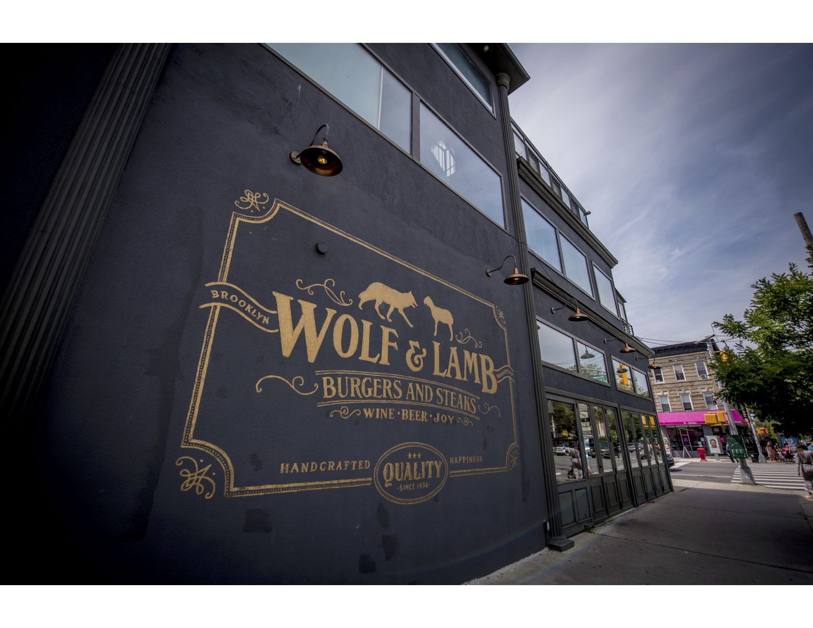 The Wolf & Lamb burger and steak restaurant near The Vitagraph Apartments Brooklyn